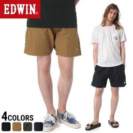 EDWIN エドウィン F.L.E 裾ロゴ 無地 サニー ショートパンツメンズ カジュアル 男性 ファッション ボトムス ショーツ シンプル レジャー 春夏 ES73621