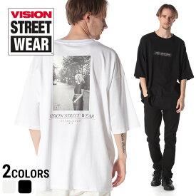 VISION STREET WEAR Tシャツ ヴィジョン 綿100% クラシックフォト クルーネック 半袖 BIG Tシャツ ビジョンストリートウェアメンズ カジュアル 男性 ファッション トップス シャツ オーバーサイズ プリント 春夏 9523153