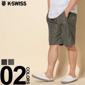 大きいサイズ メンズ K-SWISS ケースイス 水陸両用 総柄 ショートパンツ エアリーテック カジュアル ボトムス ショーツ ドライ 海 プール レジャー 春夏 K2992K