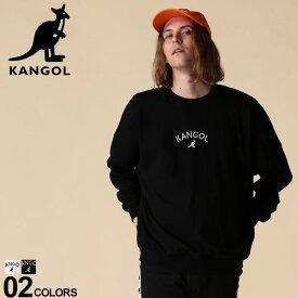 カンゴール トレーナー KANGOL スウェット 綿100% フロントロゴ刺繍 クルーネック 長袖 BIGトレーナーメンズ カジュアル 男性 ファッション トップス かぶり プルオーバー オーバーサイズ 94731557
