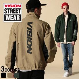 VISION STREET WEAR ジャケット ヴィジョン トラックジャケット ナイロン バックプリント フルジップメンズ カジュアル 男性 ファッション トップス アウター ストリート スタンド プリント 9723104