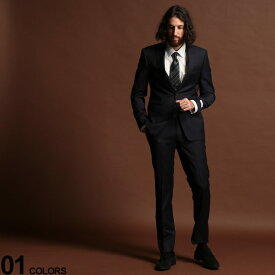 Calvin Klein (カルバン クライン) ストレッチ ウール混 ピンストライプ シングル 2ツ釦 スーツ NAVY SLIM FITブランド メンズ 男性 紳士 ビジネス フォーマル ウール シンプル ノータック 伸縮 CKMABRY5UZX212