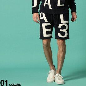 1PIU1UGUALE3 RELAX (ウノ ピュ ウノ ウグァーレ トレ リラックス) パイル BIGロゴ ウエストゴム ショートパンツブランド メンズ 男性 ボトムス パンツ ショートパンツ ショーツ もこもこ ふわふわ 秋冬 スポーツ 1PRUSK20004