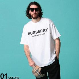 BURBERRY (バーバリー) 綿100% ロゴプリント クルーネック 半袖 Tシャツ WHITEブランド メンズ 男性 トップス Tシャツ 半袖 シャツ クルー 春 夏 コットン シンプル BB8026017 流行 メンズファッション ブランド 原宿ゼンモール