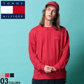 トミーヒルフィガー Tシャツ TOMMY HILFIGER トミー ロンT 胸ロゴ リブ クルーネック 長袖 Tシャツメンズ 男性 トップス シャツ Tシャツ クルー 長袖 トレーナー スエット ロンT 裏毛 シンプル 09T3310