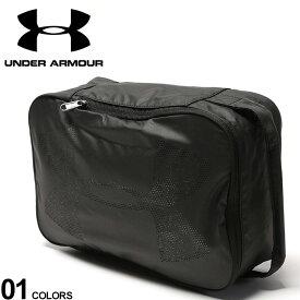 大きいサイズ メンズ UNDER ARMOUR (アンダーアーマー) パンチングロゴ シューズ バッグ 13.8L シューズバッグ スポーツ バスケ シューズケース トレーニング ジム 1312565