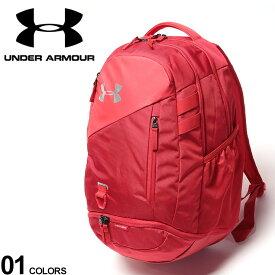 大きいサイズ メンズ UNDER ARMOUR (アンダーアーマー) ロゴ サイドメッシュポケット バックパック ハッスル 4.0 バックパック リュック スポーツ トレーニング 撥水 ユニセックス ポケット 1342651