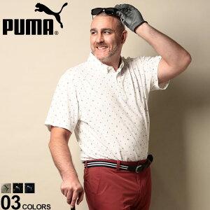 大きいサイズ メンズ PUMA (プーマ) 総柄プリント 半袖 ポロシャツ UPF30 ポロシャツ シャツ ゴルフ 春 夏 スポーツ トレーニング ドット 半袖 5975730D22 流行 メンズファッション ブランド 原宿ゼ