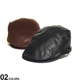 大きいサイズ メンズ SAKAZEN (サカゼン) PUレザー アジャスター付き ハンチング 帽子 ハンチング 日よけ 秋 冬 フェイクレザー BIGサイズ BTDW1012