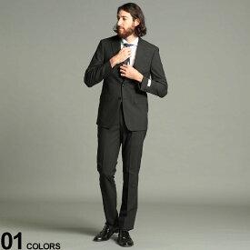Calvin Klain (カルバンクライン) シングル 2ツ釦 ノータック スーツ SLIMFITブランド メンズ 男性 紳士 スーツ ビジネス フォーマル シングルスーツ タックなし 細身 CKMABRY5UZ0450O