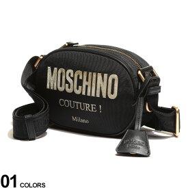 Moschino (モスキーノ) ゴールドロゴ ジップ開き ショルダーバッグブランド レディース 小物 鞄 バッグ ショルダー ミニバッグ 斜め掛け コンパクト 刺繍 MHL74198205