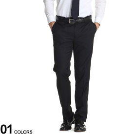 Calvin Klein (カルバンクライン) ストレッチ 無地 ノータック スラックス SLIM BLACKブランド メンズ 男性 ボトムス パンツ ロングパンツ スラックス 無地 スリム 伸縮 きれいめ フォーマル CKJRREPJ7Y0000