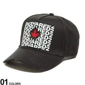 DSQUARED2 (ディースクエアード) 刺繍 ロゴプリント キャップ MultiLogoブランド メンズ 男性 帽子 キャップ ベースボールキャップ ダメージ ストリート ロゴ D2BCM04175C0121