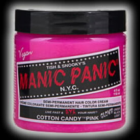 マニックパニック / MANIC PANIC ヘアカラー コットンキャンディーピンク 11004【マニックパニック/マニパニ/ヘアカラー/毛染め/髪染め/発色/艶色/安全/118ml/ピンク/manicpanic/MP】【05P03Dec16】