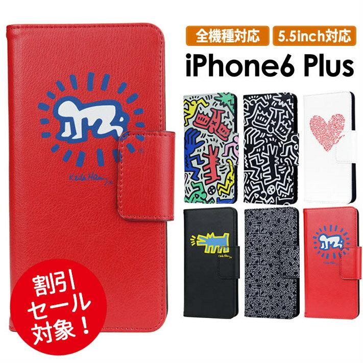 キースへリング iPhone6plus iPhone7plus 手帳型 手帳型 全機種対応 iPhone6 プラス ケース iPhone6s iphone 6 plusケース