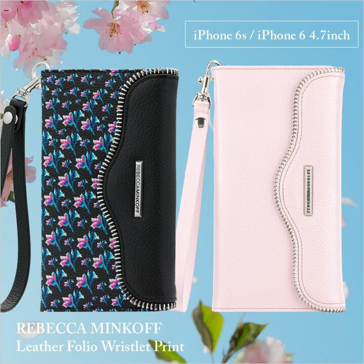 iPhone6s/6 ケース レベッカ・ミンコフ 4.7inch レザー フォリオ リストレット 手帳型 プリント おしゃれ かわいい きれい ピンク ケース ギフト プレゼント Case-Mate 02P03Dec16