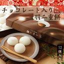 チョコレート入り羽二重餅 12個入り 和菓子 福井 銘菓 お歳暮 お土産 スイーツ ギフト