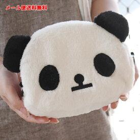 【メール便送料無料】パンダ ポシェット 斜めがけ レディース かばん 鞄 バッグ キッズ 女性用 キッズ用 子供用 動物 かわいい 可愛い もこもこ モコモコ ショルダーバッグ パンダグッズ panda