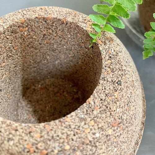 アクアプラントポット:玉(ギョク)M●使って感動!水を吸う鉢でいつも植物が元気♪鉢植木鉢素焼き和風テラコッタおしゃれかわいい観葉植物植物インテリアプレゼントアクアポット水やり観葉●玉Mサイズ:W140×D140×H125
