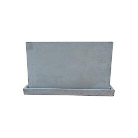 植木鉢 おしゃれ コンクリートポット CC018-270 12cm x 27cm / 陶器鉢 長方形 セメント