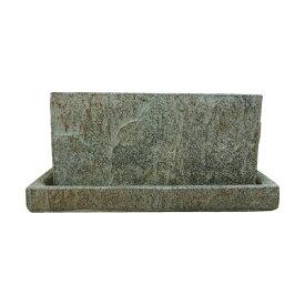 植木鉢 セメントポット CC304-165 5.5号(16.5cm) 受け皿付き
