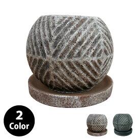植木鉢 セメントポット CC337-130 4号(13cm) 受け皿付き 鉢底穴有り