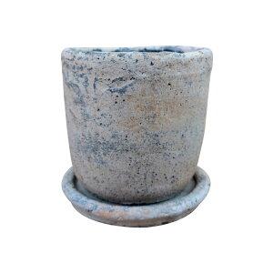 植木鉢 おしゃれ セメントポット MM012-105 3.5号(10.5cm) / 陶器鉢 アンティーク 白 コンクリート