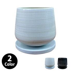 植木鉢 おしゃれ シンプルポット MM022-145 5号(14.5cm) / 陶器鉢 軽い