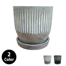 植木鉢 スタイリッシュパターンポット MM081-110 4号(11cm) 受け皿付き