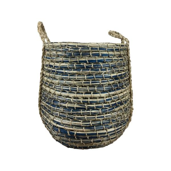 (送料無料) 植木鉢 おしゃれ ツートンカラーのシーグラスバスケット MM201-430 14号(43cm) / 藤