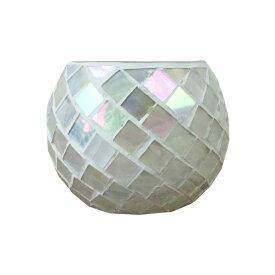 植木鉢 おしゃれ モザイクガラスポット MY9106-105 3.5号(10.5cm) / 陶器鉢 アンティーク 鉢カバー