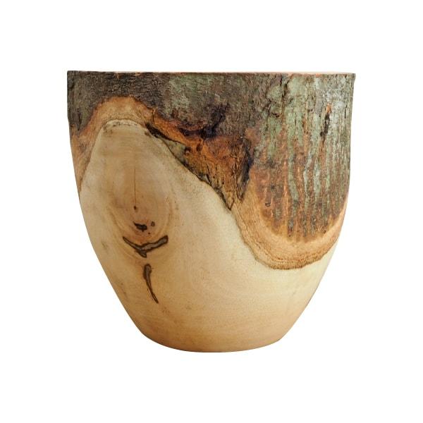 (送料無料) 植木鉢 おしゃれ マンゴーウッドポット ST9703-270 9号(27cm) / 鉢カバー 天然木