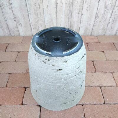 植木鉢・おしゃれFRPポットUN001-2809号(28cm)/大型・石・プラスチック・白