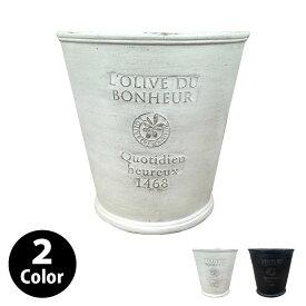 植木鉢 おしゃれ ガーデンデザインポット UN208-310 10号(31cm) / 陶器鉢 グラスファイバー 白 黒 軽い
