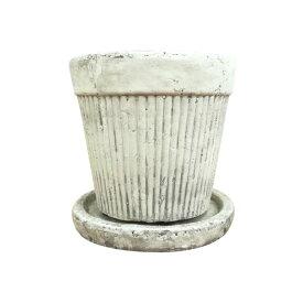 植木鉢 パステルラインポット UN407-105 3.5号(10.5cm) 受け皿付き 鉢底穴有り