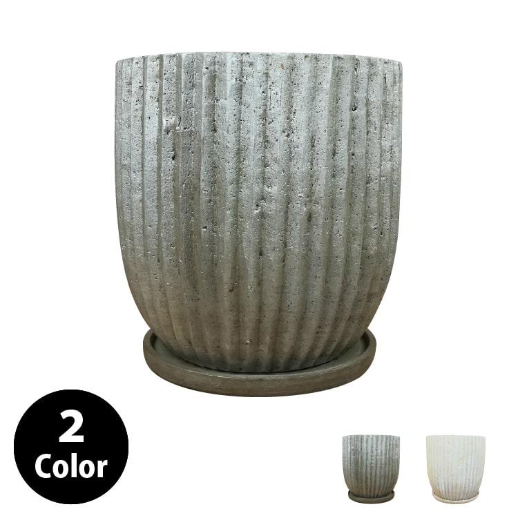 (送料無料) 植木鉢 おしゃれ 8号用鉢カバー YS0576-290 10号(29cm) / 陶器鉢 受け皿付き 大型