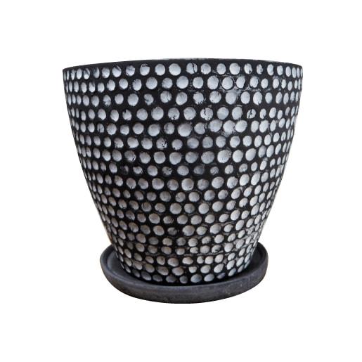 (送料無料) 植木鉢 おしゃれ 10号用鉢カバー YS1894-395 13号(39.5cm) / 陶器鉢 大型 白 黒 鉢カバー