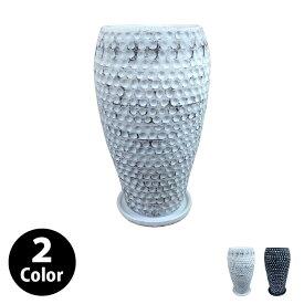 植木鉢 おしゃれ 6号用 トールポット YS1897-255 8.5号(25.5cm) / 陶器鉢 大型 白 黒 鉢カバー