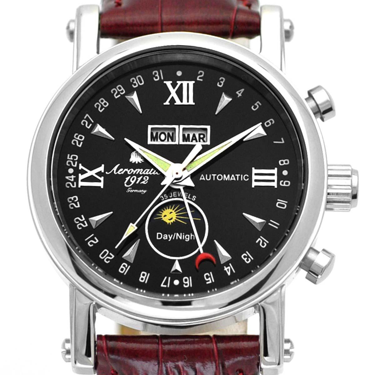 Aeromatic1912 エアロマティック エアロマチック 自動巻き 腕時計 メンズ パイロットウォッチ [A1032B] 並行輸入品 メーカー保証24ヵ月 収納ケース付き