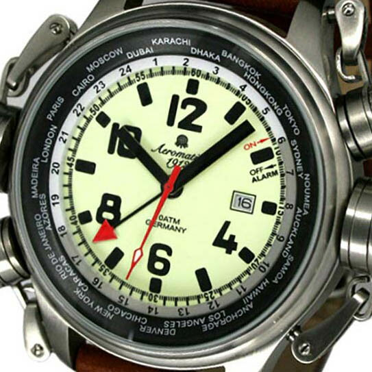 Aeromatic 1912 エアロマティック 1912 エアロマチック 1912 クォーツ 腕時計 メンズ パイロットウォッチ [A1326] 並行輸入品 メーカー保証24ヶ月&純正ケース付き