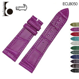腕時計ベルト 腕時計バンド 替えストラップ 社外品 汎用レザーベルト / ワニ革 取付幅23/24/26mm 適用: FRANCK MULLER フランク・ミュラー [COLOR DREAMS] (尾錠)バックルなし [ Eight - ECLB050 ]