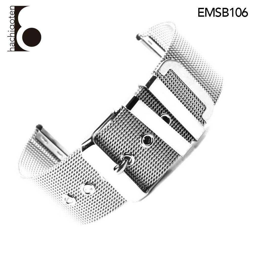 【メール便送料無料】 腕時計ベルト 腕時計バンド 替えストラップ 社外品 汎用ステンレスベルト 取付幅26mm 適用: Calvin Klein カルバン・クライン (尾錠)ピンバックル付き [ Eight - EMSB106 ]