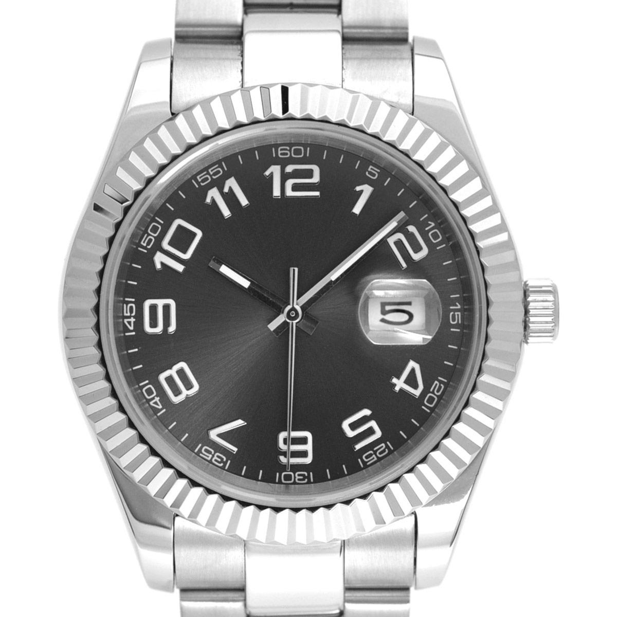 NOLOGO ノーロゴ 機械式腕時計 自動巻 オートマチック デイトジャスト DATE JUST 日付/夜光表示 [ NL-037ASG3AS ] シンプル メンズ