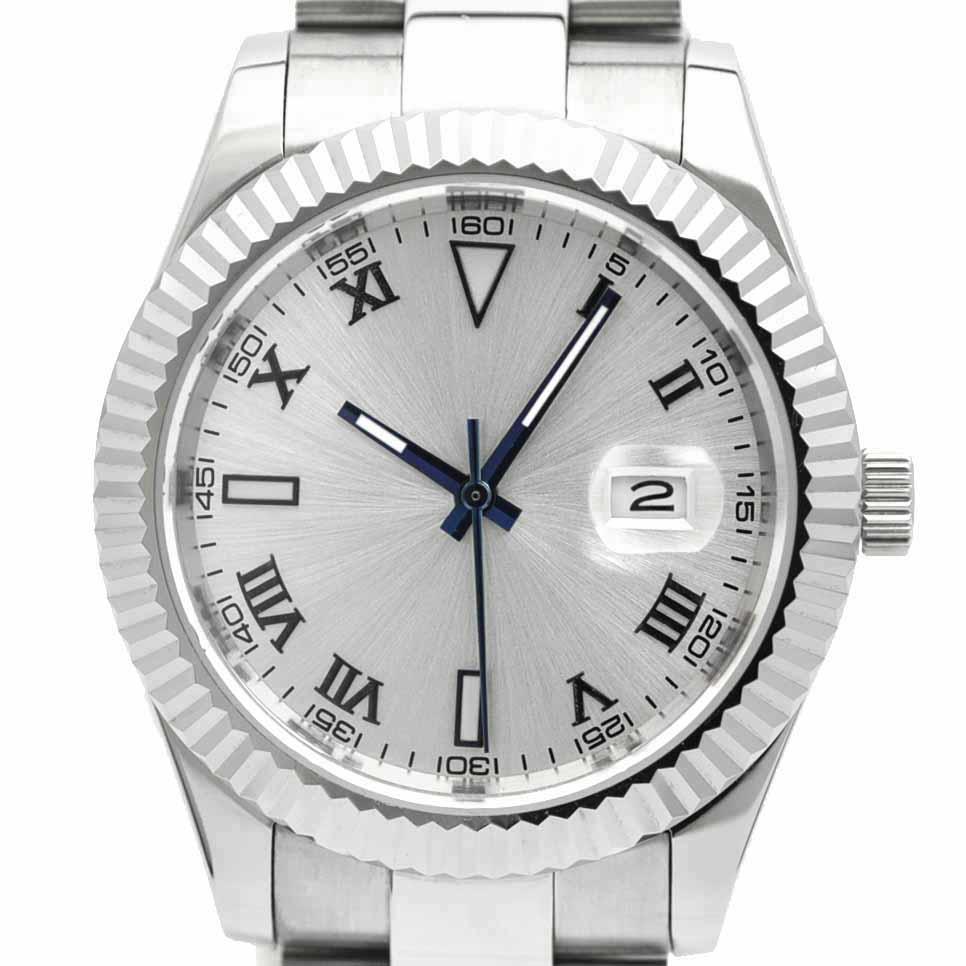 NOLOGO ノーロゴ 機械式腕時計 自動巻 オートマチック デイトジャスト DATE JUST 日付/夜光表示 [ NL-045SW3ASR ] シンプル メンズ