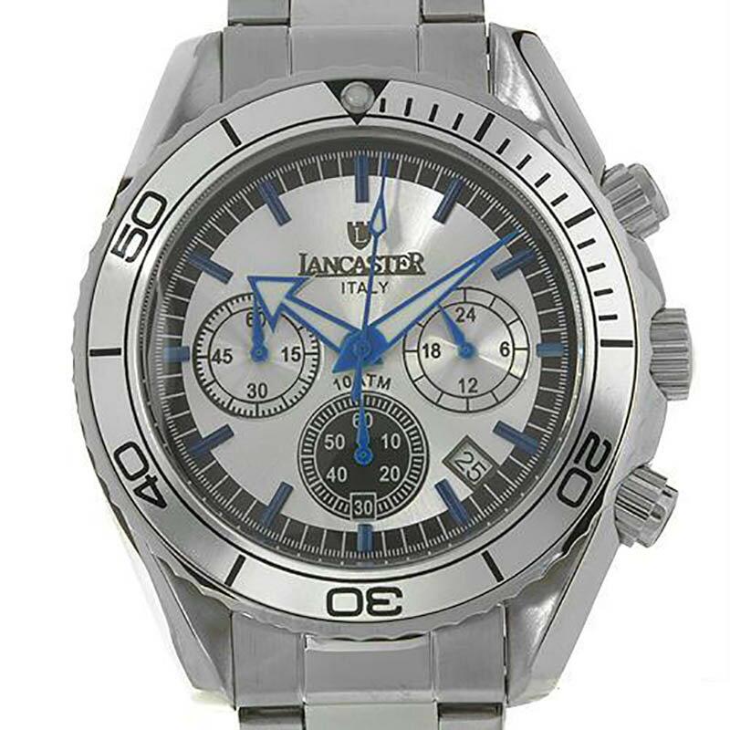 LANCASTER ランカスター 電池式クォーツ 腕時計 [OLA0500SL/BL] 並行輸入品 純正ケース メーカー保証 24ヶ月
