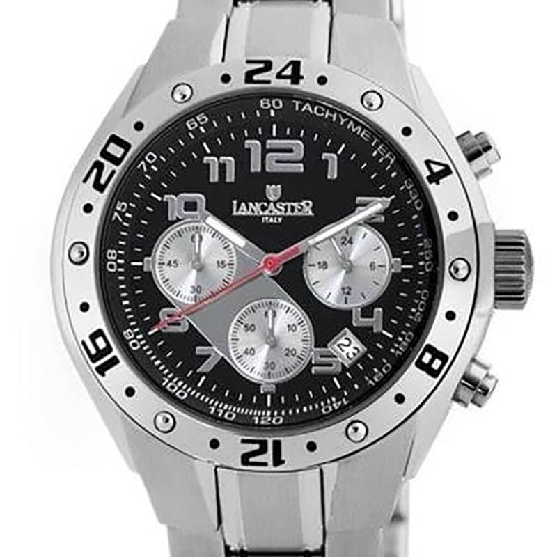 【残り1点】LANCASTER ランカスター 電池式クォーツ 腕時計 [OLA0502BK/GR] 並行輸入品 純正ケース メーカー保証 24ヶ月