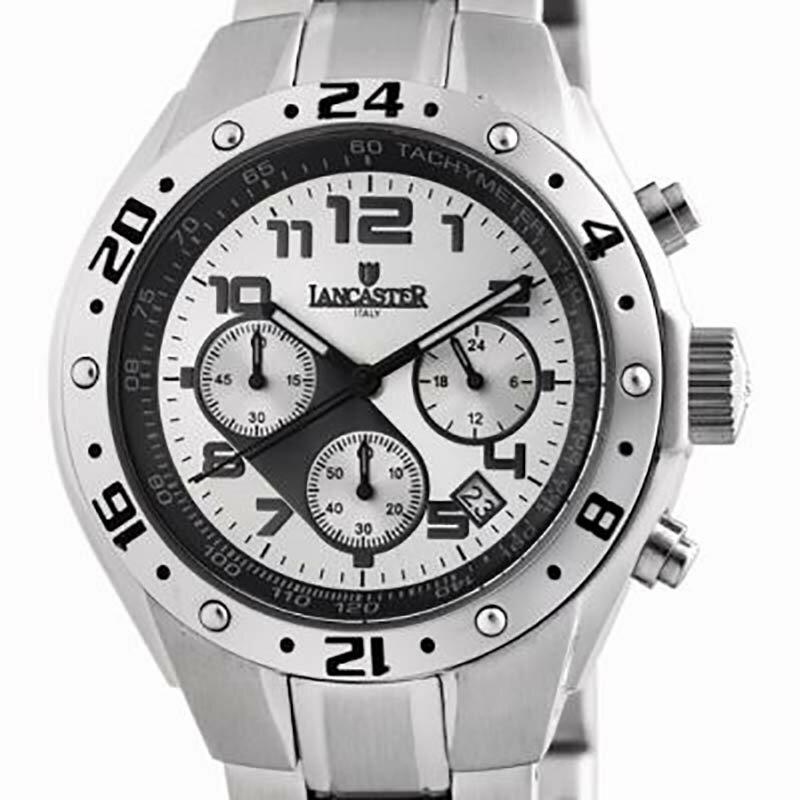 【残り1点】LANCASTER ランカスター 電池式クォーツ 腕時計 [OLA0502SL/BK] 並行輸入品 純正ケース メーカー保証 24ヶ月