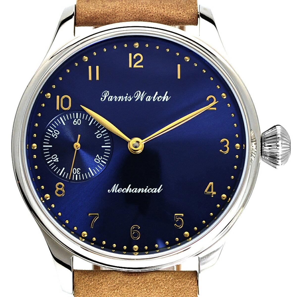 【NEW】PARNIS パーニス 手巻き 腕時計 [PA6061-S3M-BL] 並行輸入品 純正ケース メーカー保証12ヶ月