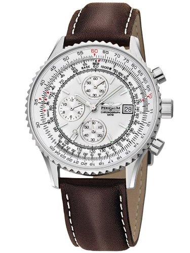 【残り1点】Perigaum ぺリガウム クォーツ 腕時計 メンズ ウォッチ ドイツ [P-1310-ASW] 並行輸入品 メーカー保証24ヵ月 純正ケース付き