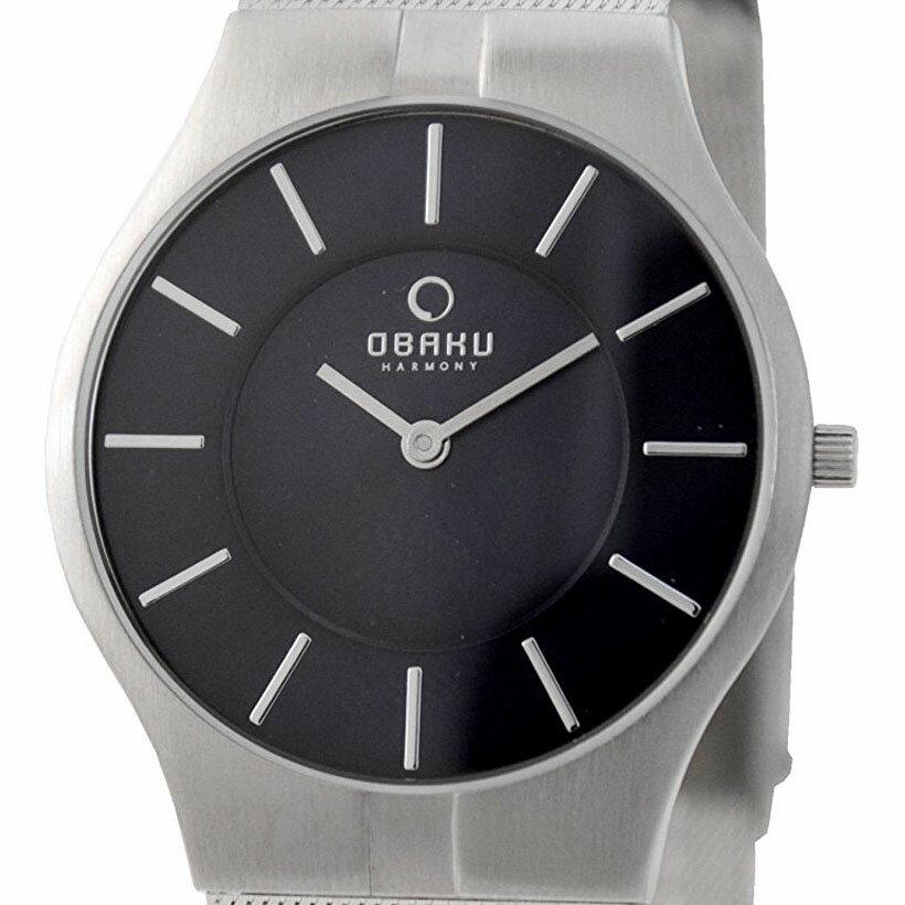 【ポイント10倍】【残り1点】OBAKU オバック クォーツ 腕時計 デンマーク シンプル 薄型 ファッション [V122GCLMC] 並行輸入品 純正ケース メーカー保証